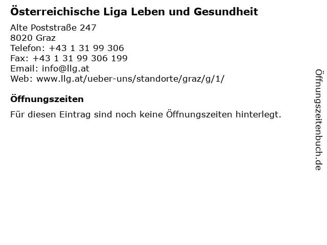 Österreichische Liga Leben und Gesundheit in Graz: Adresse und Öffnungszeiten