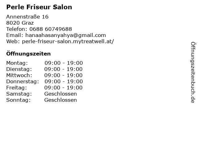 Perle Friseur Salon in Graz: Adresse und Öffnungszeiten
