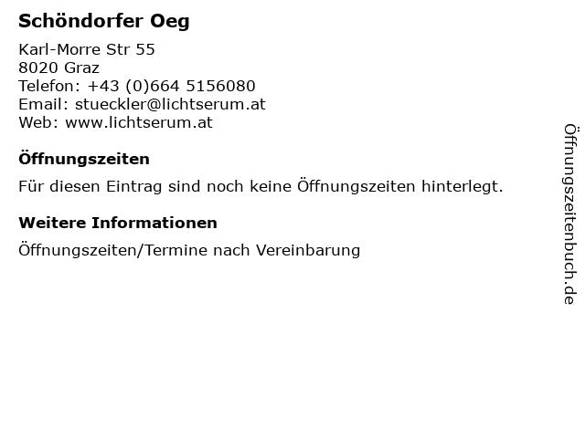 Schöndorfer Oeg in Graz: Adresse und Öffnungszeiten
