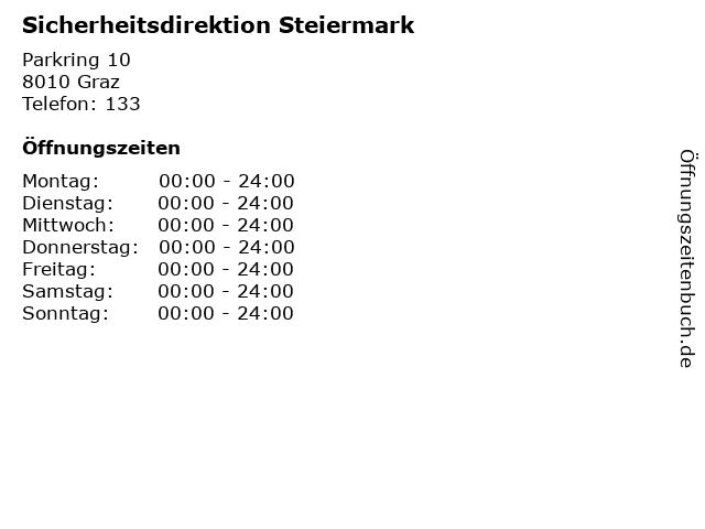 Sicherheitsdirektion Steiermark in Graz: Adresse und Öffnungszeiten