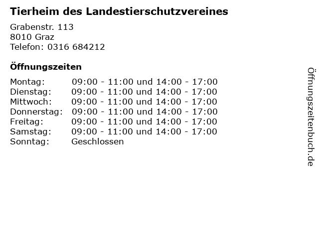 Tierheim des Landestierschutzvereines in Graz: Adresse und Öffnungszeiten