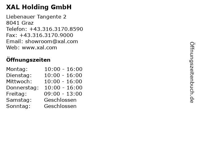 XAL Holding GmbH in Graz: Adresse und Öffnungszeiten
