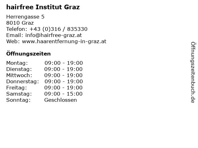 hairfree Institut Graz in Graz: Adresse und Öffnungszeiten