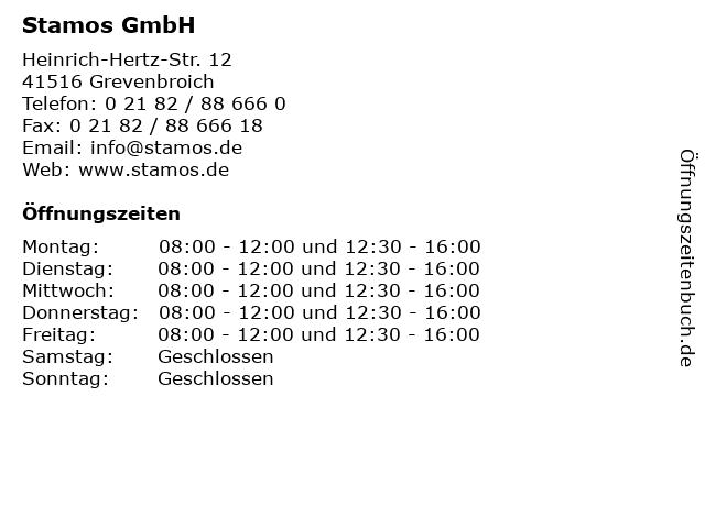 Stamos GmbH in Grevenbroich: Adresse und Öffnungszeiten