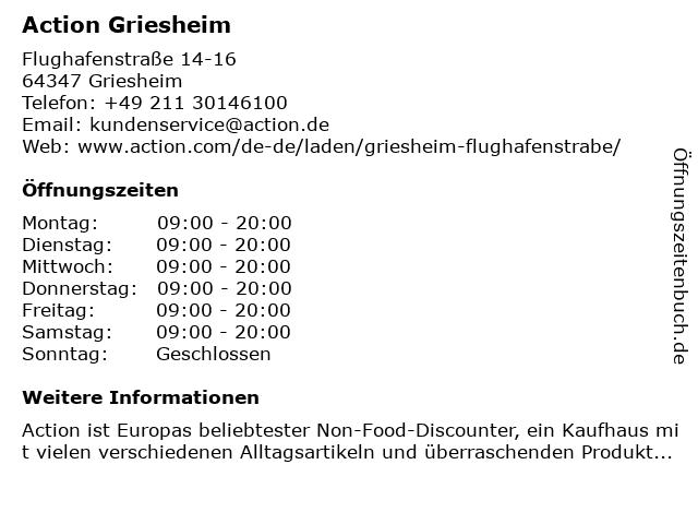 Action Discountmarkt in Griesheim: Adresse und Öffnungszeiten