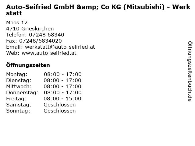 Auto-Seifried GmbH & Co KG (Mitsubishi) - Werkstatt in Grieskirchen: Adresse und Öffnungszeiten