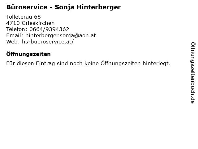 Büroservice - Sonja Hinterberger in Grieskirchen: Adresse und Öffnungszeiten