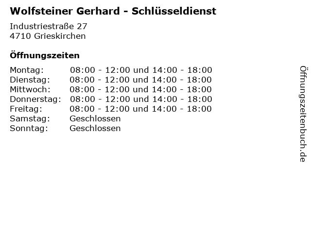 Wolfsteiner Gerhard - Schlüsseldienst in Grieskirchen: Adresse und Öffnungszeiten
