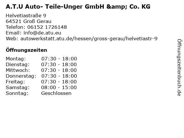 A.T.U Auto- Teile-Unger GmbH & Co. KG in Groß Gerau: Adresse und Öffnungszeiten