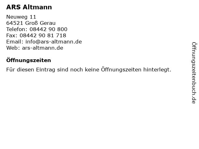 ARS Altmann in Groß Gerau: Adresse und Öffnungszeiten