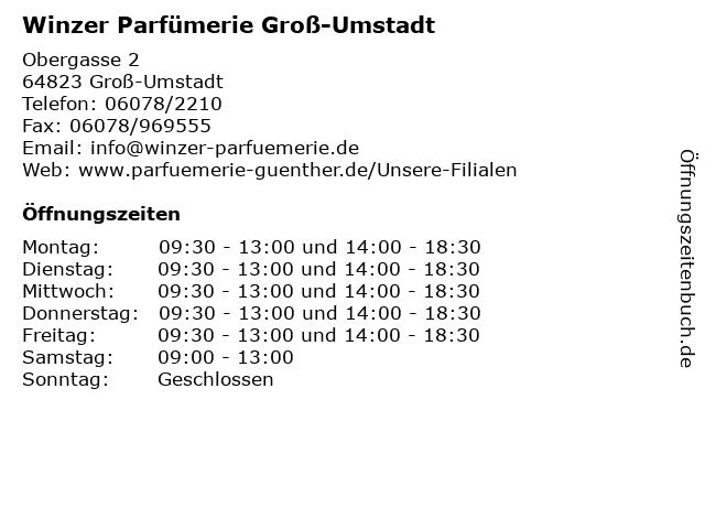 Winzer Parfümerie Groß-Umstadt in Groß-Umstadt: Adresse und Öffnungszeiten