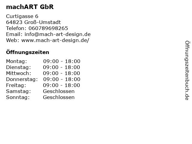 machART GbR in Groß-Umstadt: Adresse und Öffnungszeiten