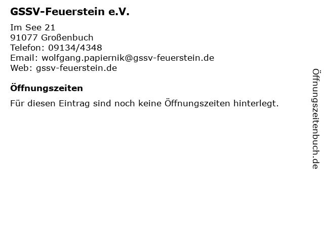 GSSV-Feuerstein e.V. in Großenbuch: Adresse und Öffnungszeiten