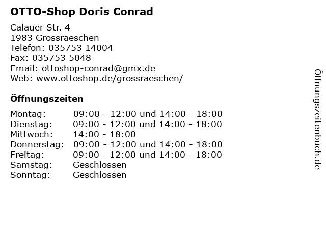 OTTO-Shop Doris Conrad in Grossraeschen: Adresse und Öffnungszeiten