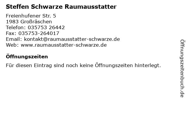 Steffen Schwarze Raumausstatter in Großräschen: Adresse und Öffnungszeiten