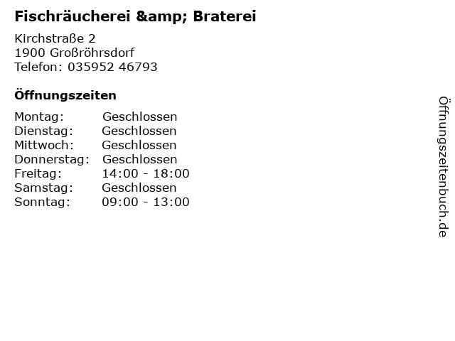 Fischräucherei & Braterei in Großröhrsdorf: Adresse und Öffnungszeiten