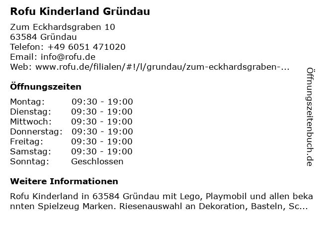 Rofu Kinderland Gründau in Gründau: Adresse und Öffnungszeiten