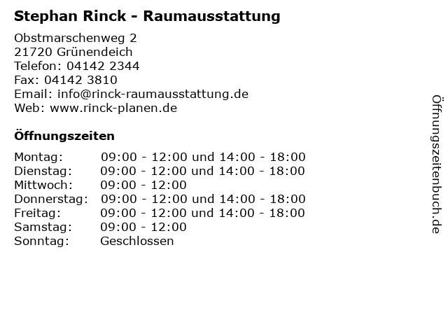 Stephan Rinck - Raumausstattung in Grünendeich: Adresse und Öffnungszeiten