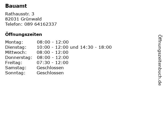 Bauamt in Grünwald: Adresse und Öffnungszeiten