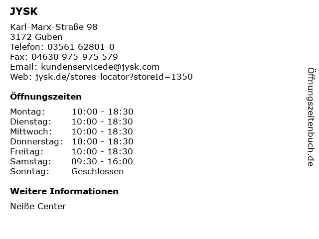 Dänisches Bettenlager GmbH & Co. KG in Guben: Adresse und Öffnungszeiten