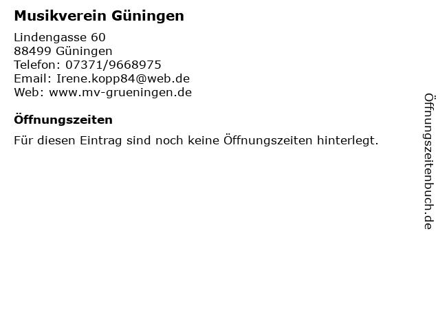 Musikverein Güningen in Güningen: Adresse und Öffnungszeiten