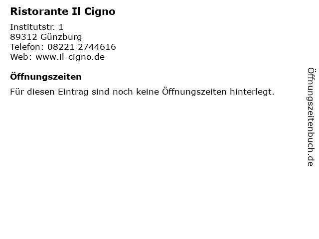 Ristorante Il Cigno in Günzburg: Adresse und Öffnungszeiten