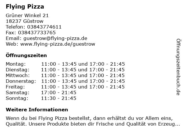 Flying Pizza in Güstrow: Adresse und Öffnungszeiten