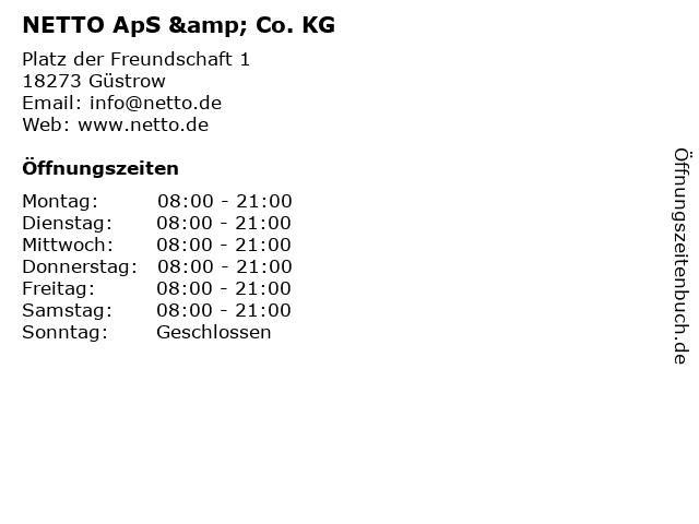 NETTO ApS & Co. KG in Güstrow: Adresse und Öffnungszeiten