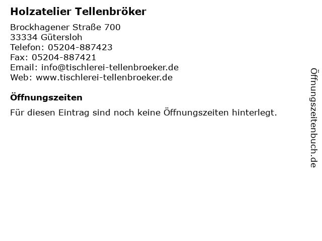 Holzatelier Tellenbröker in Gütersloh: Adresse und Öffnungszeiten
