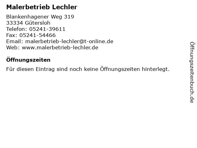 Malerbetrieb Lechler in Gütersloh: Adresse und Öffnungszeiten