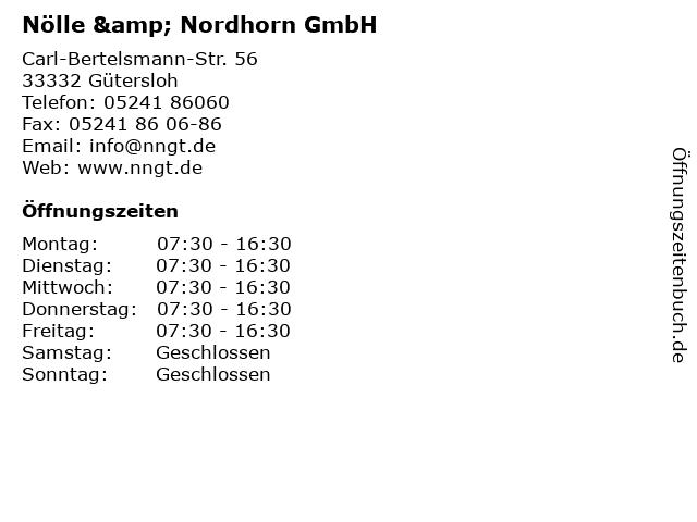 Nölle & Nordhorn GmbH in Gütersloh: Adresse und Öffnungszeiten