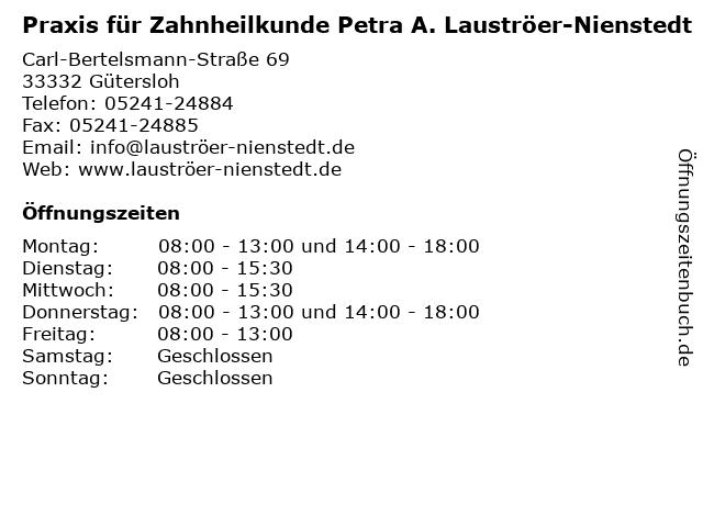 Praxis für Zahnheilkunde Petra A. Lauströer-Nienstedt in Gütersloh: Adresse und Öffnungszeiten