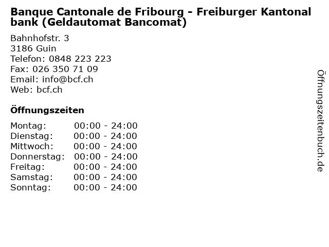 Banque Cantonale de Fribourg - Freiburger Kantonalbank (Geldautomat Bancomat) in Guin: Adresse und Öffnungszeiten