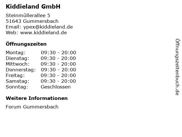 Kiddieland GmbH in Gummersbach: Adresse und Öffnungszeiten