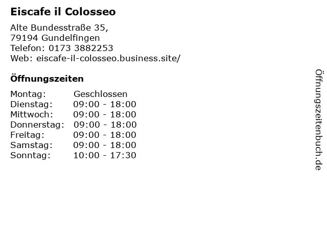 Eiscafe il Colosseo in Gundelfingen: Adresse und Öffnungszeiten