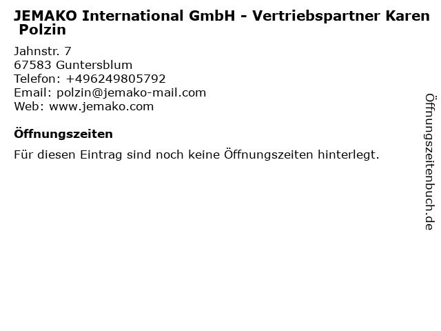 JEMAKO International GmbH - Vertriebspartner Karen Polzin in Guntersblum: Adresse und Öffnungszeiten