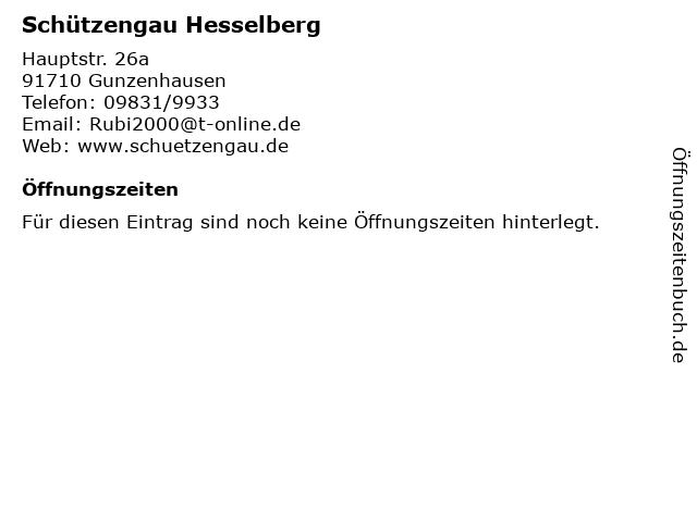 Schützengau Hesselberg in Gunzenhausen: Adresse und Öffnungszeiten