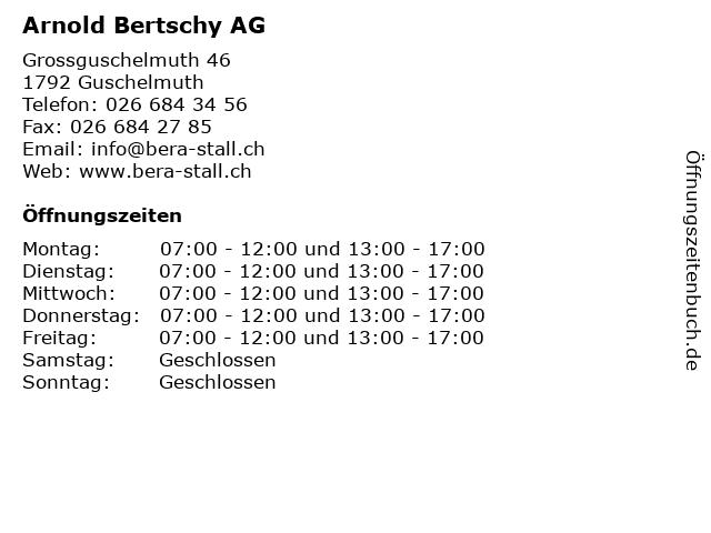 Arnold Bertschy AG in Guschelmuth: Adresse und Öffnungszeiten
