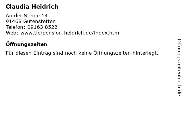 Claudia Heidrich in Gutenstetten: Adresse und Öffnungszeiten