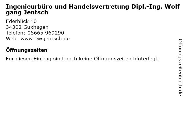 Ingenieurbüro und Handelsvertretung Dipl.-Ing. Wolfgang Jentsch in Guxhagen: Adresse und Öffnungszeiten