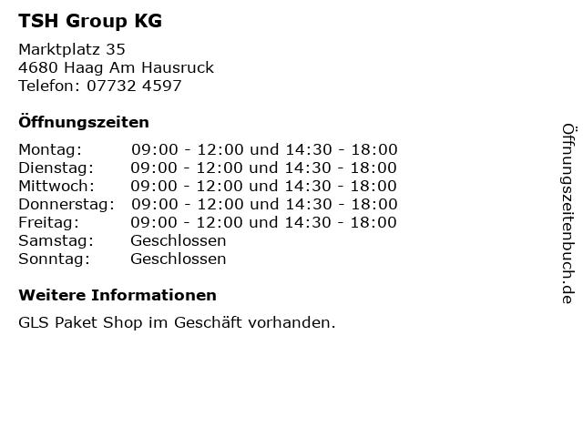 TSH Group KG in Haag Am Hausruck: Adresse und Öffnungszeiten