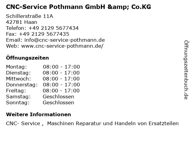 CNC-Service Pothmann GmbH & Co.KG in Haan: Adresse und Öffnungszeiten