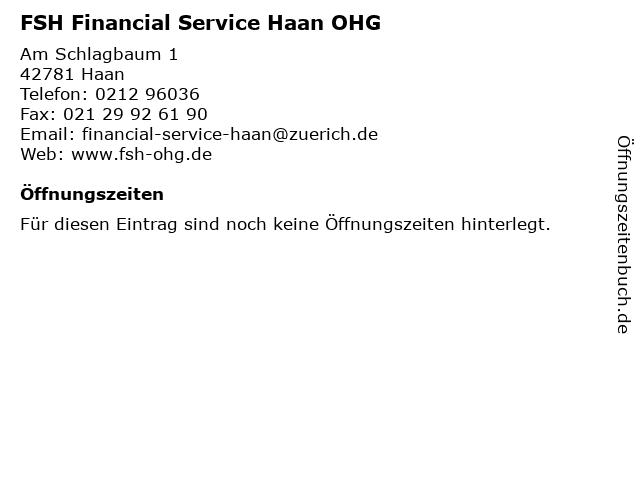 FSH Financial Service Haan OHG in Haan: Adresse und Öffnungszeiten