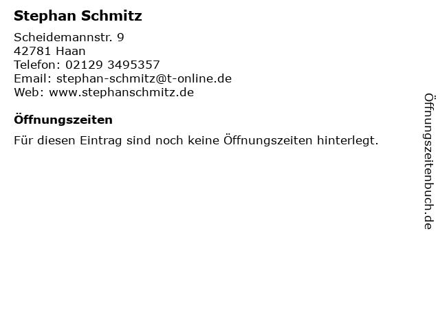 Stephan Schmitz in Haan: Adresse und Öffnungszeiten