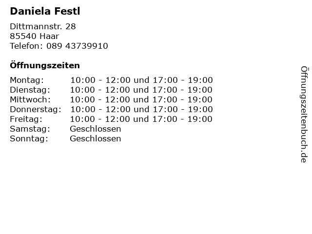 Daniela Festl in Haar: Adresse und Öffnungszeiten