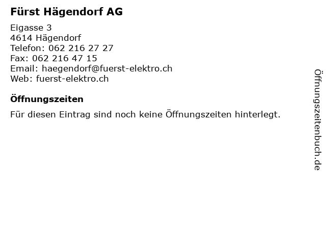 Fürst Hägendorf AG in Hägendorf: Adresse und Öffnungszeiten