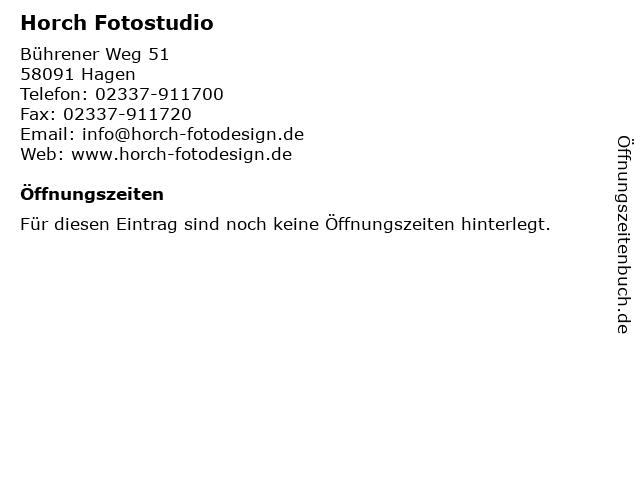 Horch Fotostudio in Hagen: Adresse und Öffnungszeiten