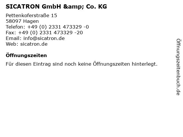 SICATRON GmbH & Co. KG in Hagen: Adresse und Öffnungszeiten