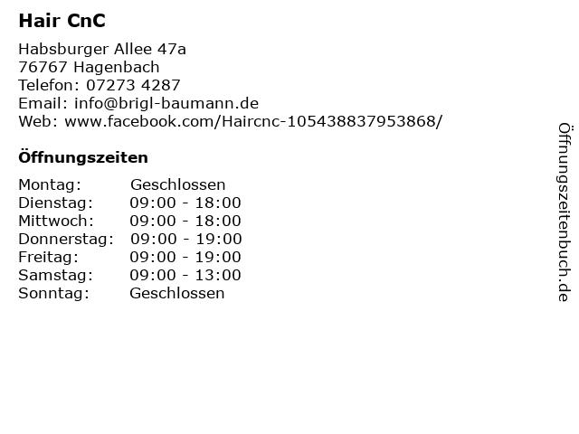 Hair CnC in Hagenbach: Adresse und Öffnungszeiten
