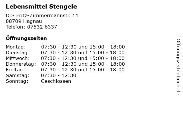 Lebensmittel Stengele in Hagnau: Adresse und Öffnungszeiten